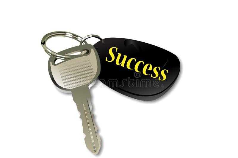 De sleutel tot successie stock illustratie