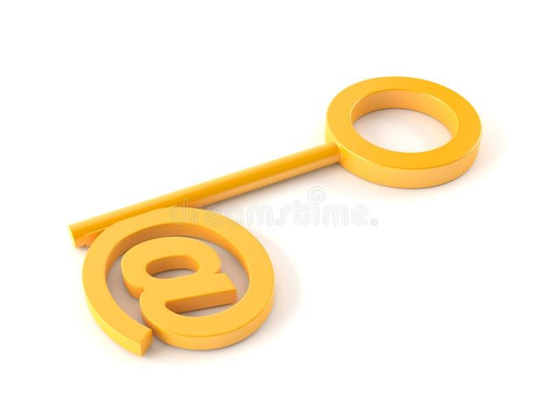 De sleutel van Ðmail royalty-vrije illustratie