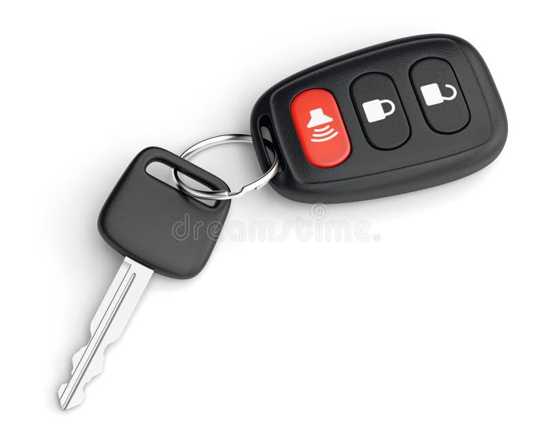 De sleutel van de afstandsbedieningauto stock illustratie