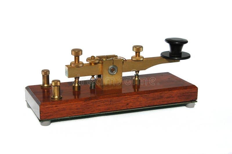 De Sleutel van de telegraaf royalty-vrije stock afbeelding