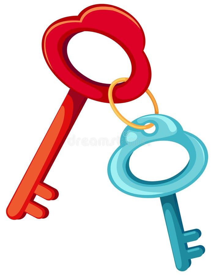 De sleutel van het beeldverhaal vector illustratie