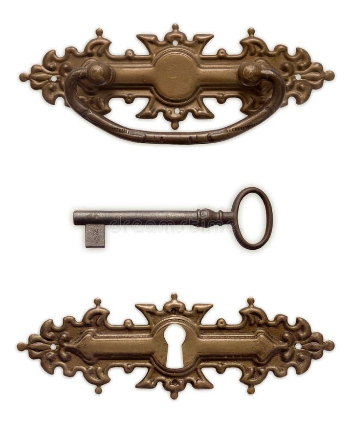 De sleutel van het handvat royalty-vrije stock fotografie