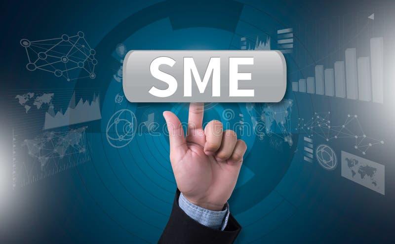 De SLEUTEL van het MKB of van Kleine en middelgrote ondernemingen TOT het MKB-SUCCES stock afbeelding