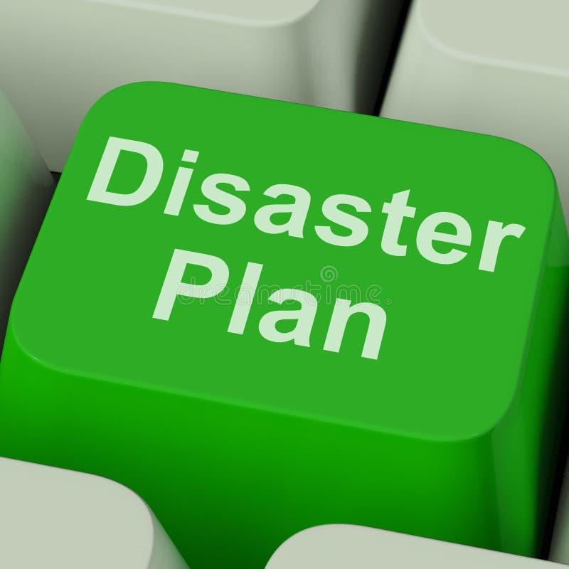 De Sleutel van het rampenplan toont de Bescherming van de Noodsituatiecrisis royalty-vrije stock afbeelding