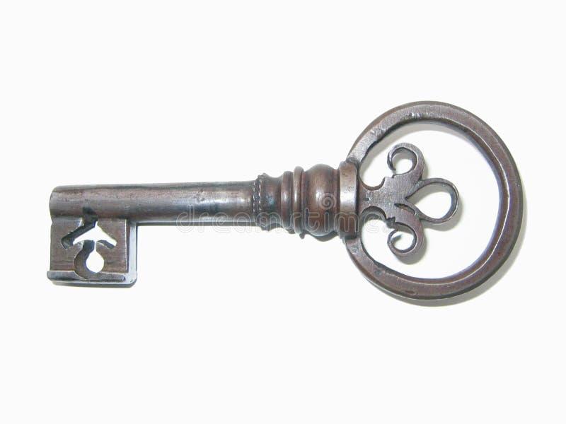 De sleutel van het smeedijzer royalty-vrije stock afbeelding