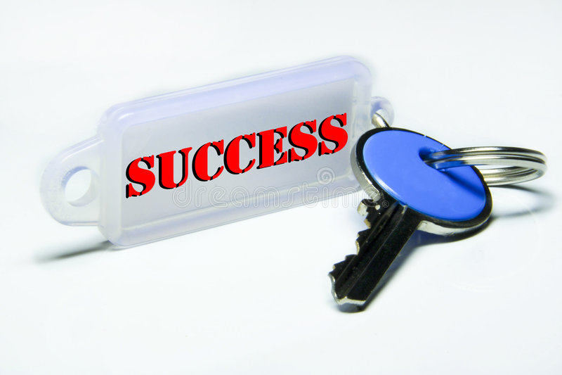 De sleutel van het succes stock fotografie