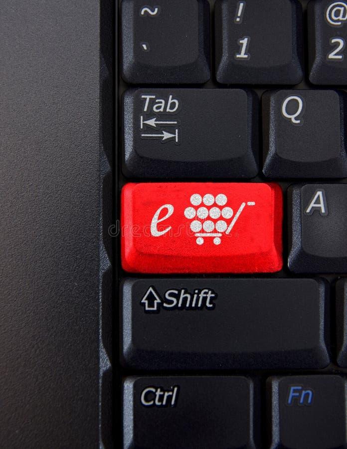 De sleutel van Shoping stock afbeelding