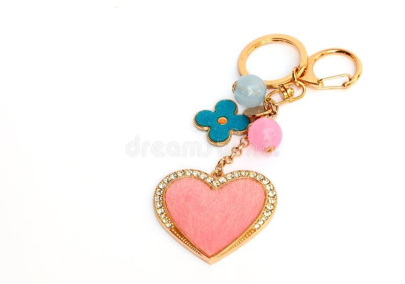 De sleutelring van de valentijnskaart stock afbeelding