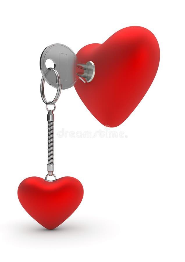 De sleutelring van het hart royalty-vrije illustratie