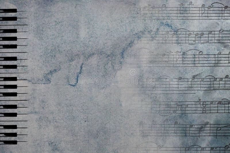 De sleutels en de nota's van de piano royalty-vrije stock foto's