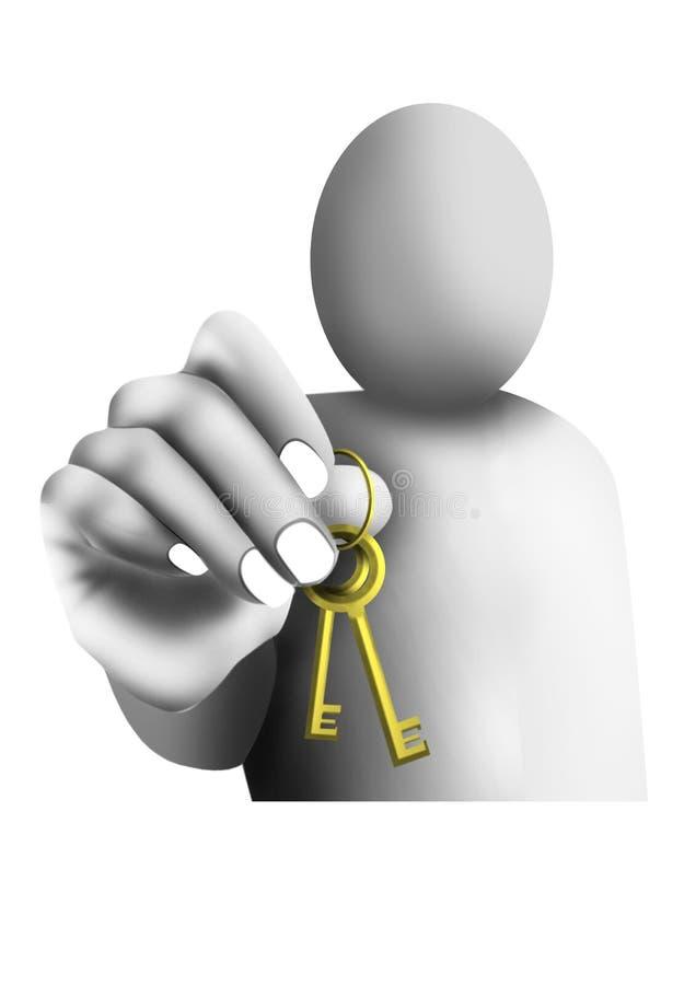 De sleutels overhandigen vector illustratie