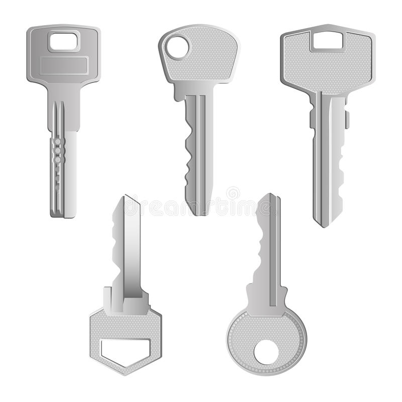 De sleutels plaatsen 2 vector illustratie
