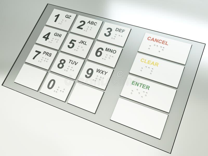 De sleutels van ATM vector illustratie