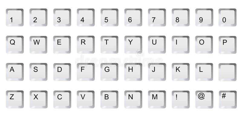 De sleutels van de alfabetcomputer vector illustratie