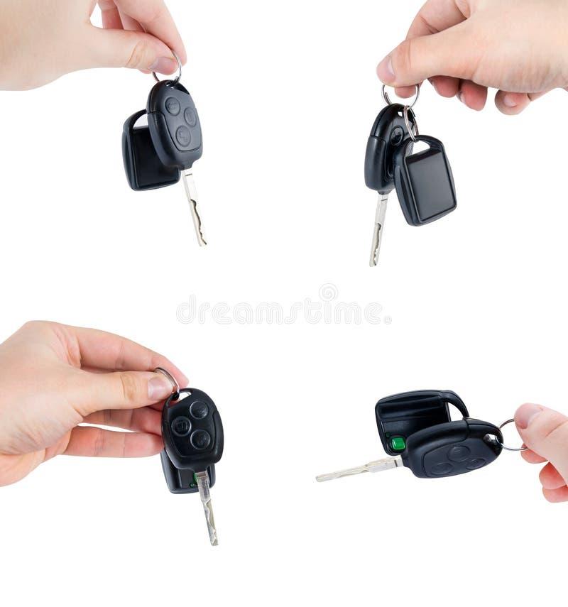 De sleutels van de auto die met afstandsbediening worden geplaatst royalty-vrije stock fotografie