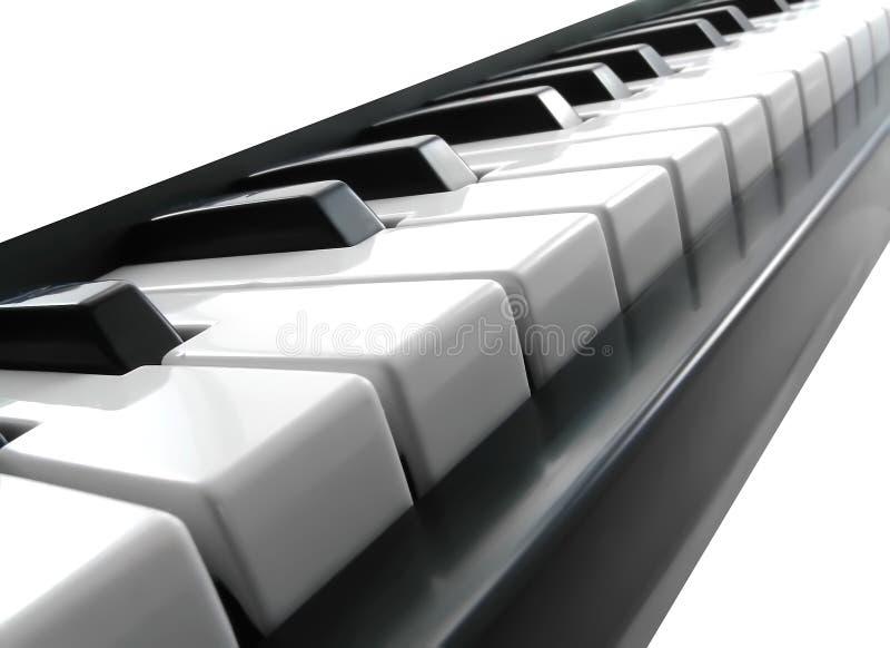 De sleutels van de piano. royalty-vrije stock afbeelding