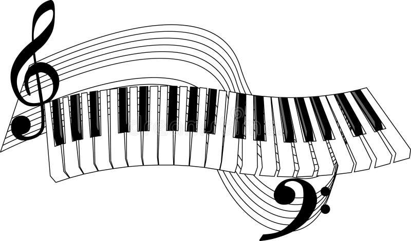 De sleutels van de piano vector illustratie