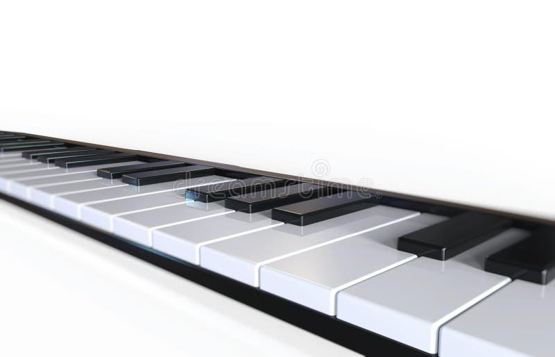 De sleutels van de piano royalty-vrije illustratie