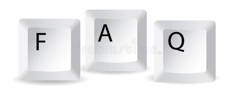 Download De sleutels van Faq vector illustratie. Illustratie bestaande uit leer - 10780614