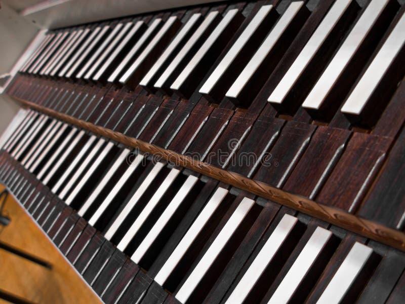 De Sleutels van Harpichord stock fotografie