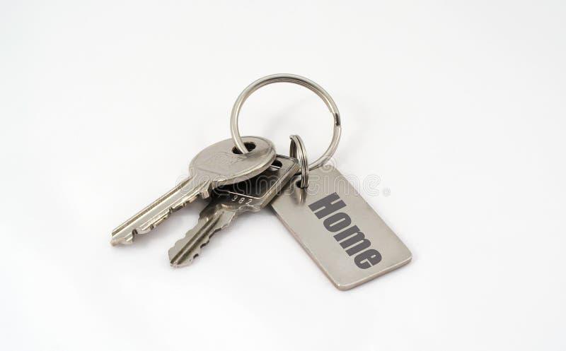 De sleutels van het huis. stock afbeelding