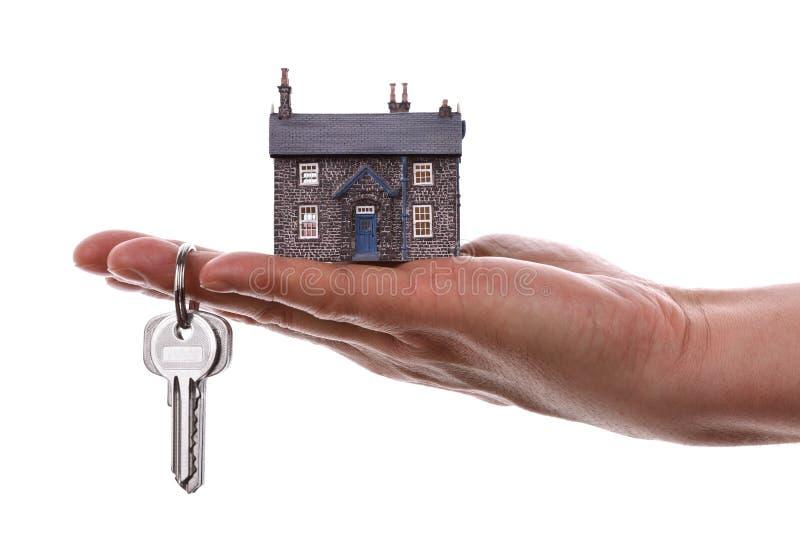 De sleutels van het huis stock afbeelding