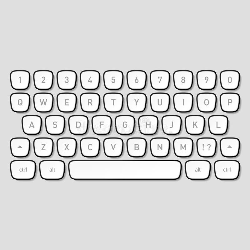De sleutels van het toetsenbord royalty-vrije illustratie