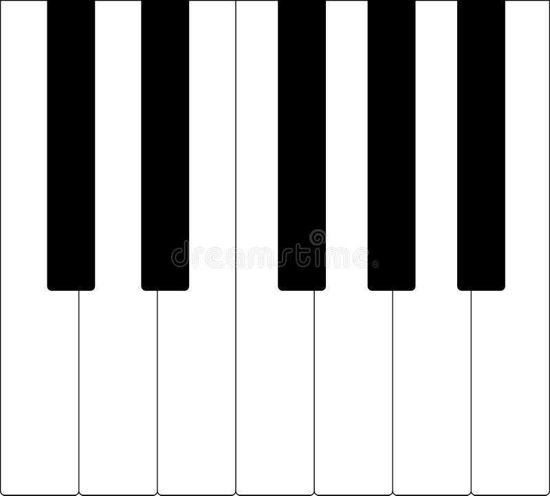De sleutels van de piano Vector illustratie royalty-vrije illustratie
