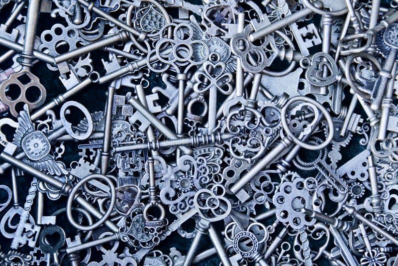 De sleutels van Steampunk stock afbeelding