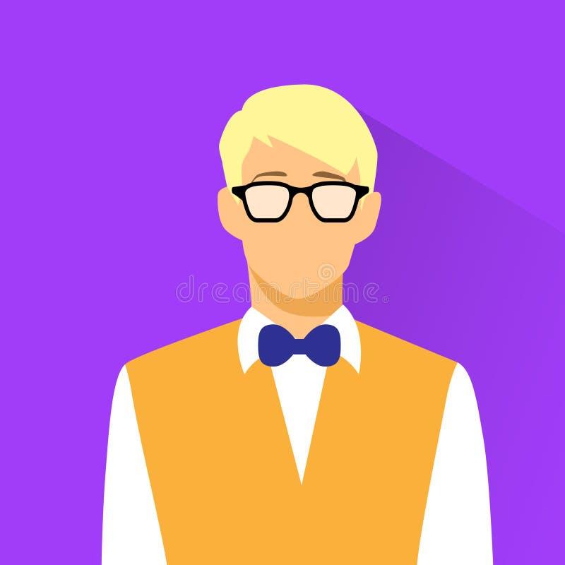 De slijtageglazen van zakenmanprofile icon nerd royalty-vrije illustratie
