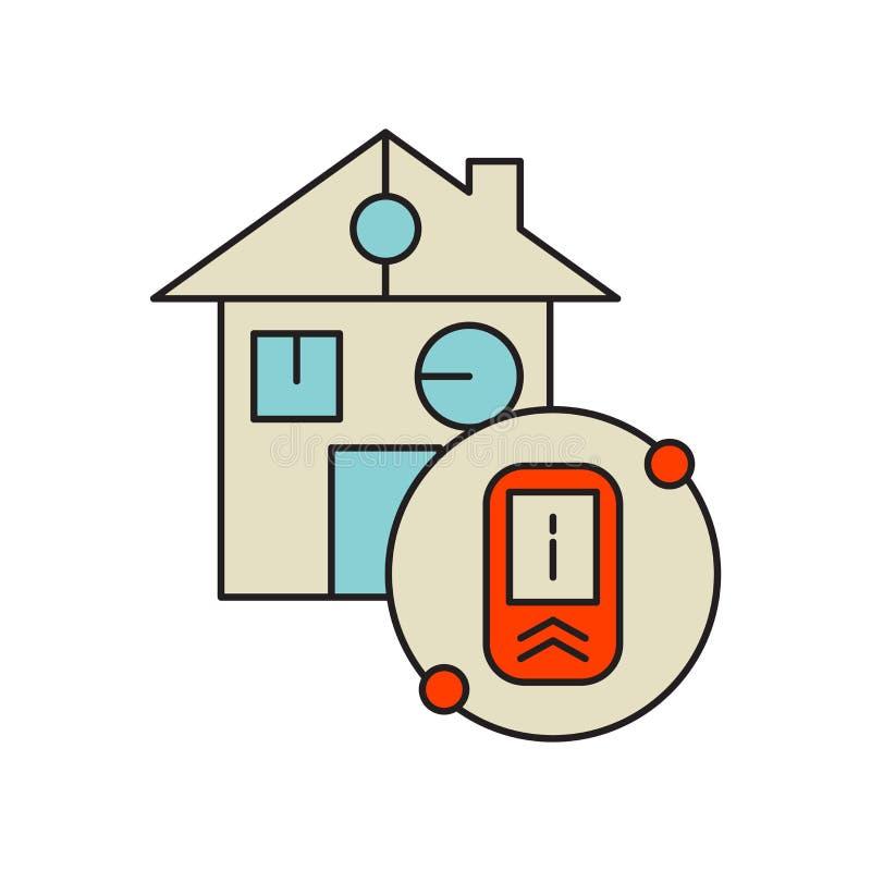 De slimme die vector van het huispictogram op witte achtergrond, Slim huisteken, technologiesymbolen wordt geïsoleerd royalty-vrije illustratie