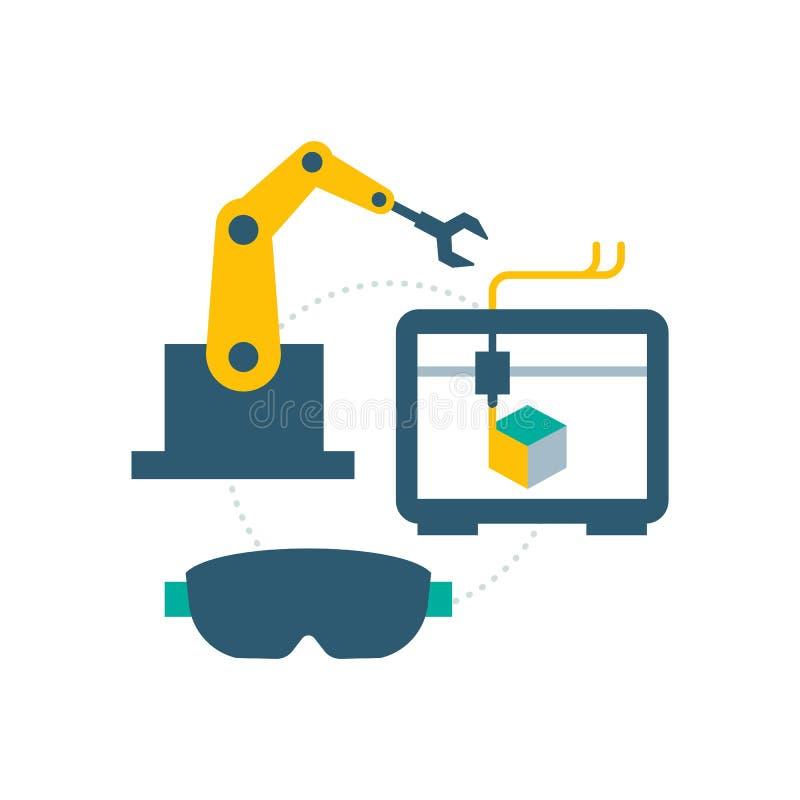 De slimme industrie en productie vector illustratie