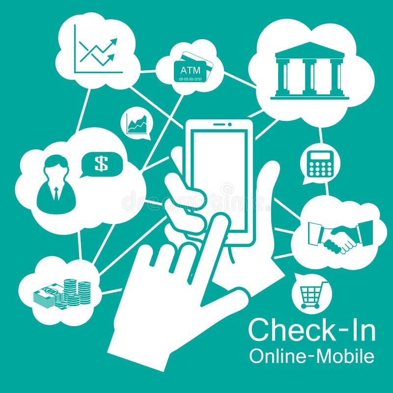 de Slimme Telefoon van het aanrakingsscherm, mobiele zaken royalty-vrije illustratie