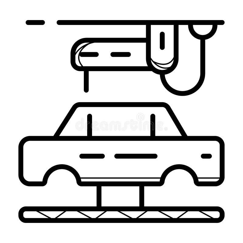 De slimme vector van het de industriepictogram vector illustratie
