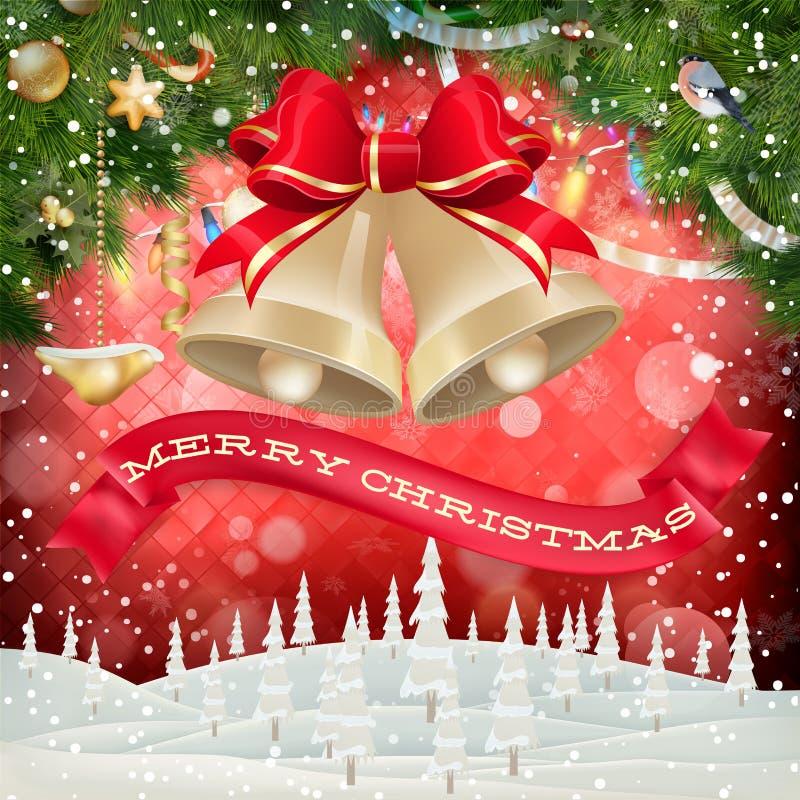 De slingerbeeld van Kerstmis Eps 10 royalty-vrije illustratie