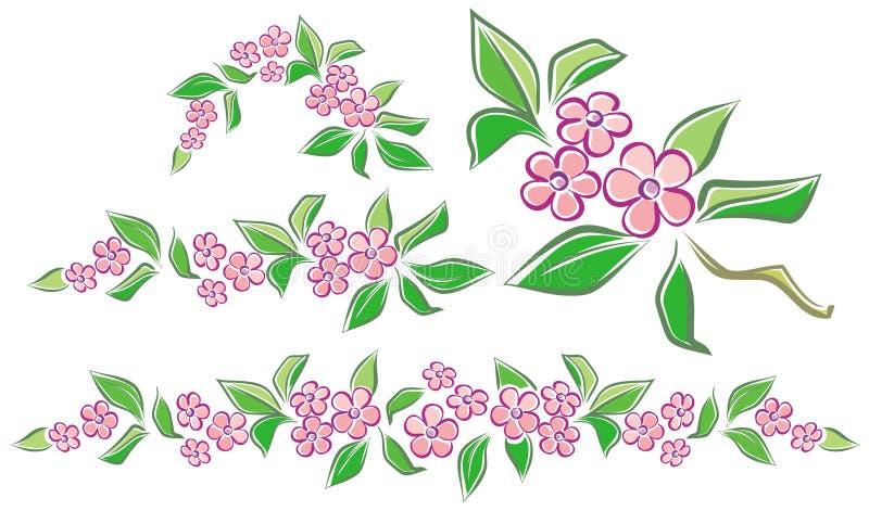 De slingers van de bloem royalty-vrije illustratie