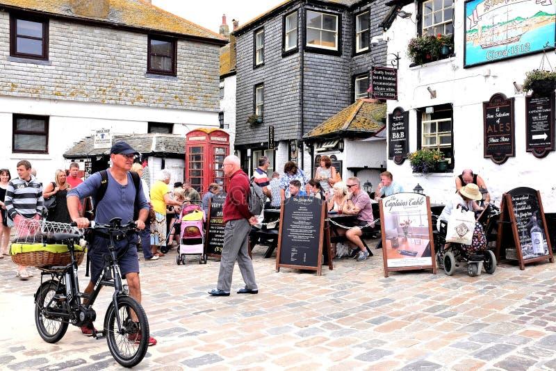 De Sloepherberg, St Ives, Cornwall, het UK royalty-vrije stock foto's