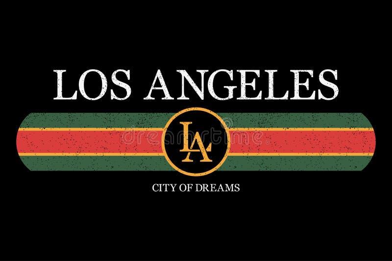 De slogan van Los Angeles grafisch voor t-shirt De druk van de maniertypografie voor ontwerpkleren en T-stukoverhemd Vector royalty-vrije illustratie