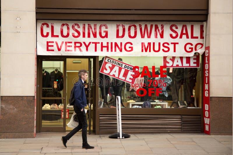 De sluiting van verkoop stock foto's