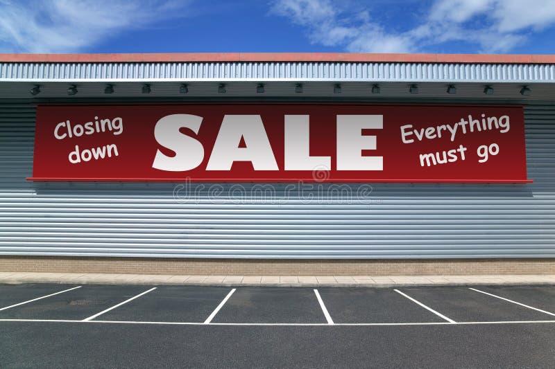 De sluiting van verkoop stock foto