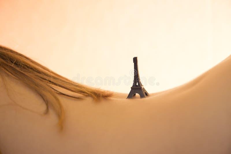 De små turnerar Eiffel arkivbild