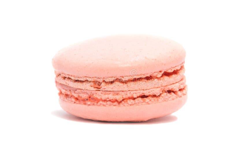 De smakelijke cakesmakarons, isoleren omhoog, sluiten stock fotografie
