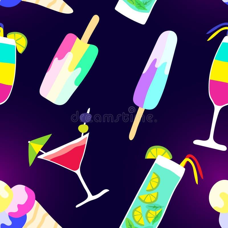 De smakelijke vruchten van de zomer royalty-vrije illustratie
