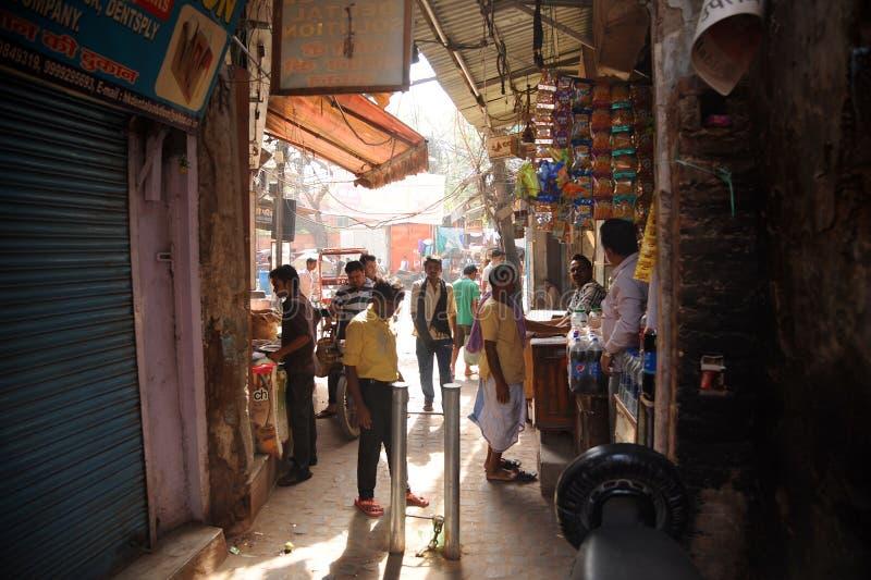 De smala bakgatorna, Indien royaltyfri fotografi