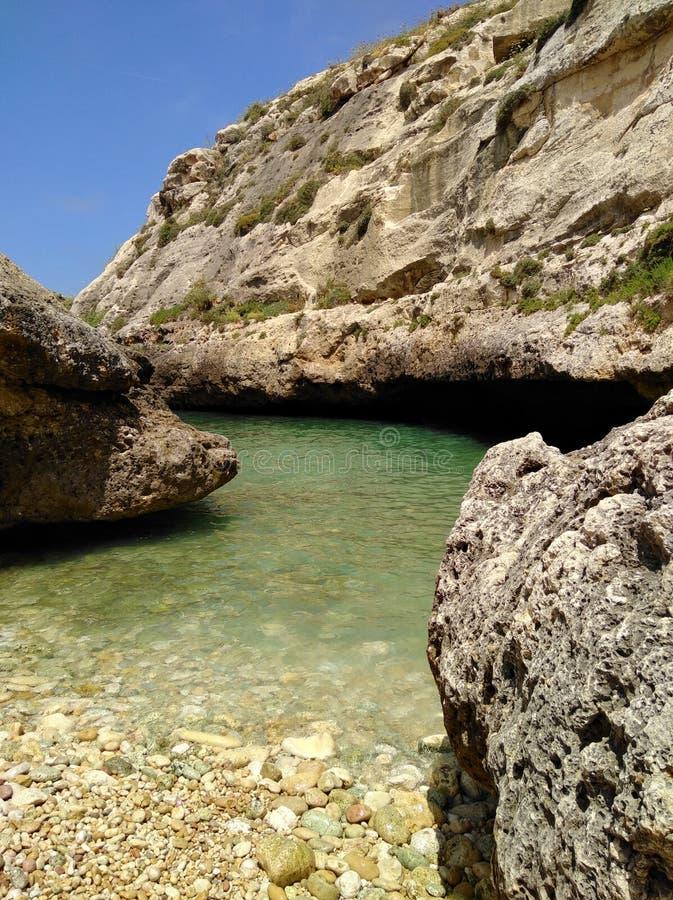 De smalle baai van Wied IL-ghasri stock foto