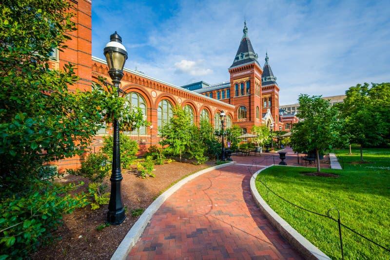 De Smithsonian Kunsten & Industrie die bouwen, in Washington, gelijkstroom stock afbeeldingen
