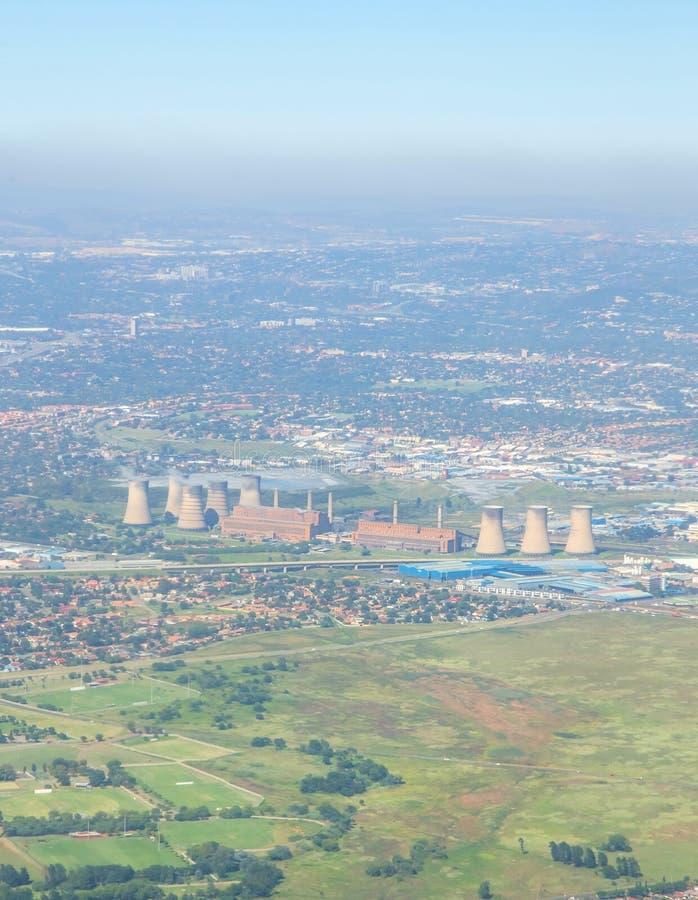 De smog van Johannesburg stock afbeeldingen