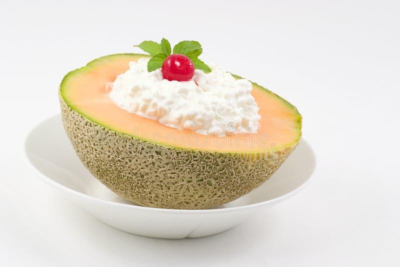 De snack van de kantaloep stock afbeelding