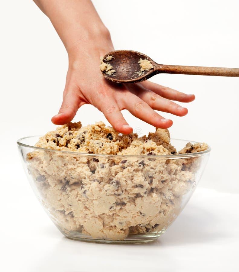 De Snack van het Deeg van het koekje stock foto