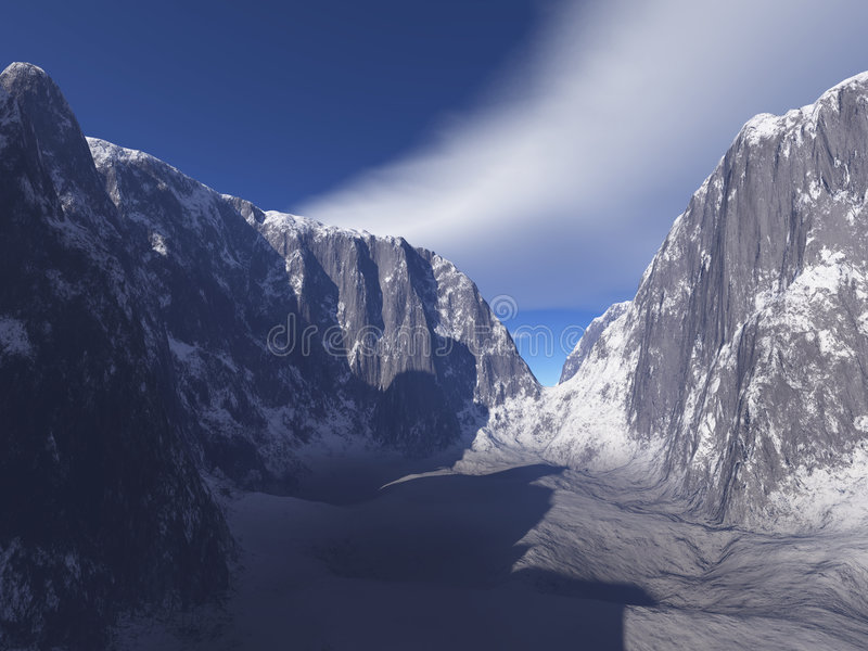 De sneeuw Canion van de Berg stock illustratie